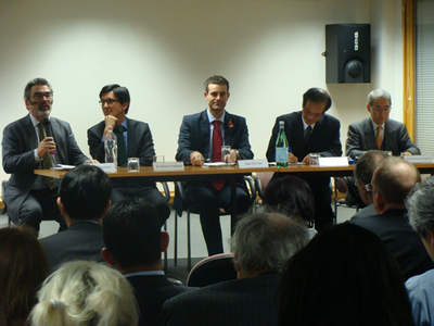 The panel at our 'COP 17 and Beyond' Event last November, with Prof Yamaguchi far right