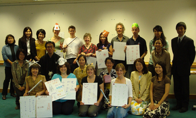 Refresher Course participants with StepOutNet members and Japan Foundation staff